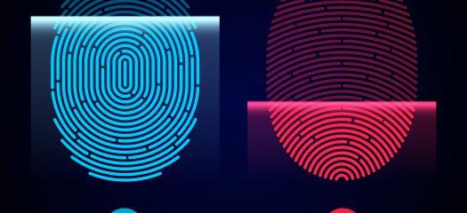biometric fingerprint authentication in a wearable