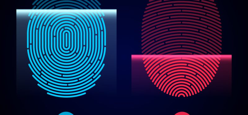 biometric fingerprint authentication in a wearable